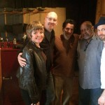 Quintet for a moment - Scott Colley happened to be at the studio when we were! Such luck! The new album is Kenny Barron, John Patitucci, and KA - produced by Michael Leonhart
