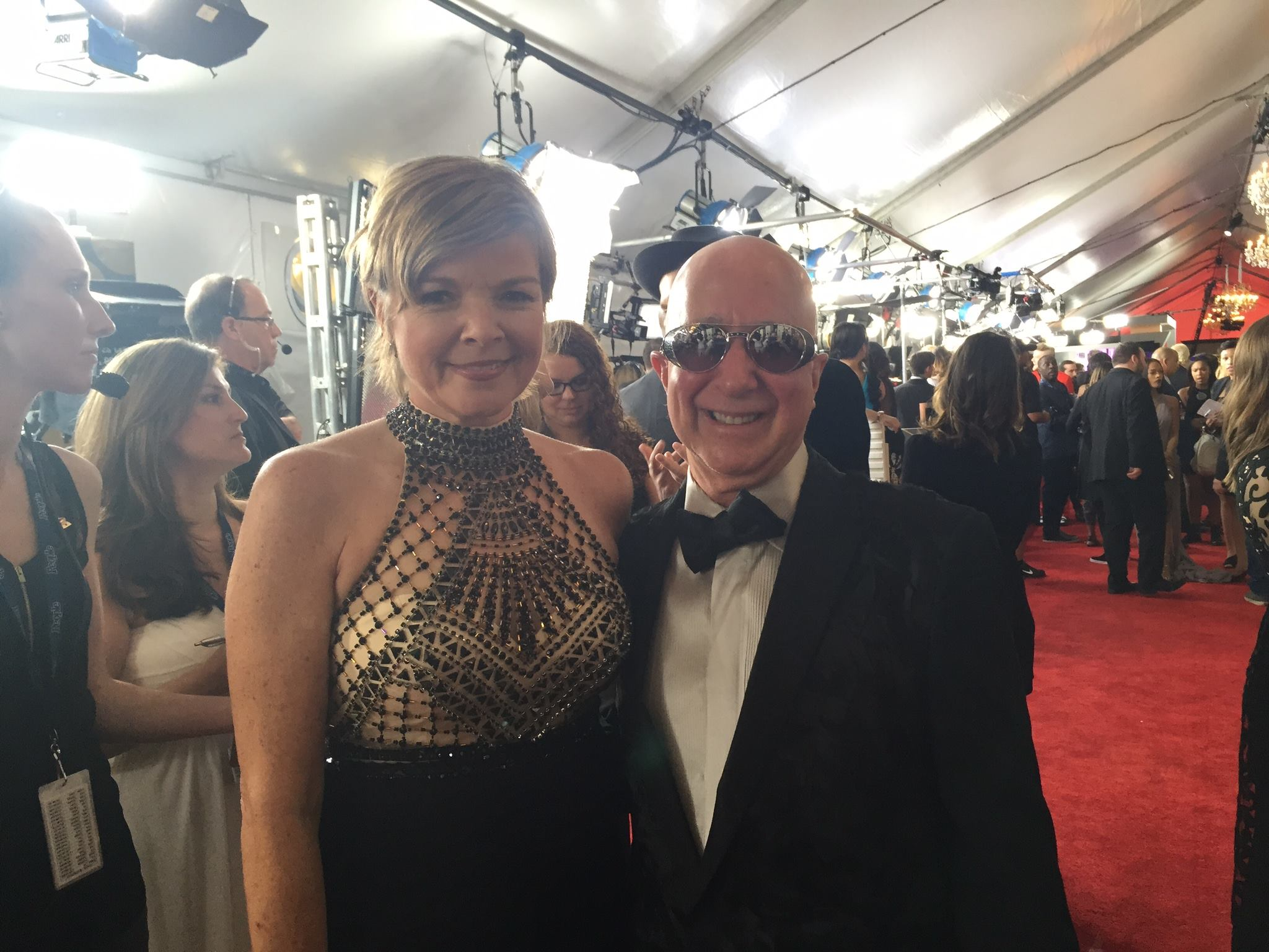 with Paul Shaffer at GRAMMY's 2016