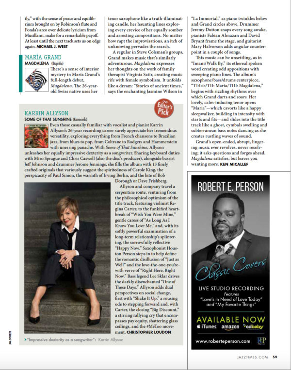 Jazz Times Review - Editor's Pick